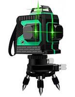 Лазерный уровень нивелир 3D 12 линий со штативом MHZ 6697, зеленый