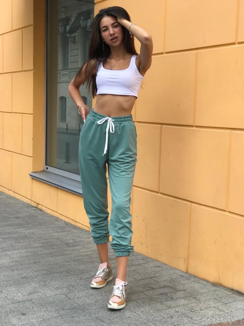 Женский спортивный костюм брюки + топ 39-562