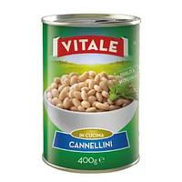 Квасоля консервована VITALE Bianchi di Spagna 400 г 24 шт/ящ