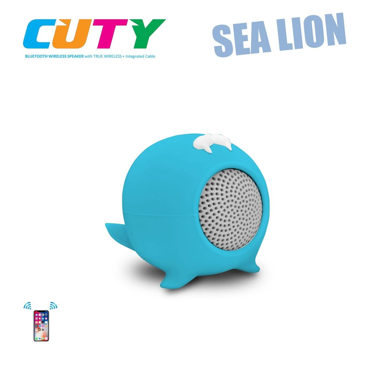 Портативная Bluetooth-колонка iDance Cuty Sealion 10W Blue (CC10CY)