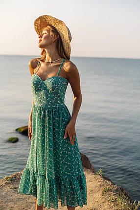 Повседневное платье в цветочный принт, фото 2
