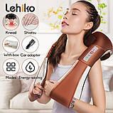 Электрический U-образный массажер Lehiko 4D 2 в 1, фото 6