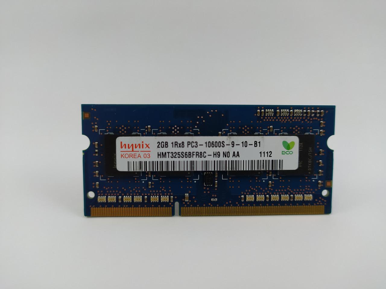 Оперативная память для ноутбука SODIMM Hynix DDR3 2Gb 1333MHz PC3-10600S (HMT325S6BFR8C-H9) Б/У