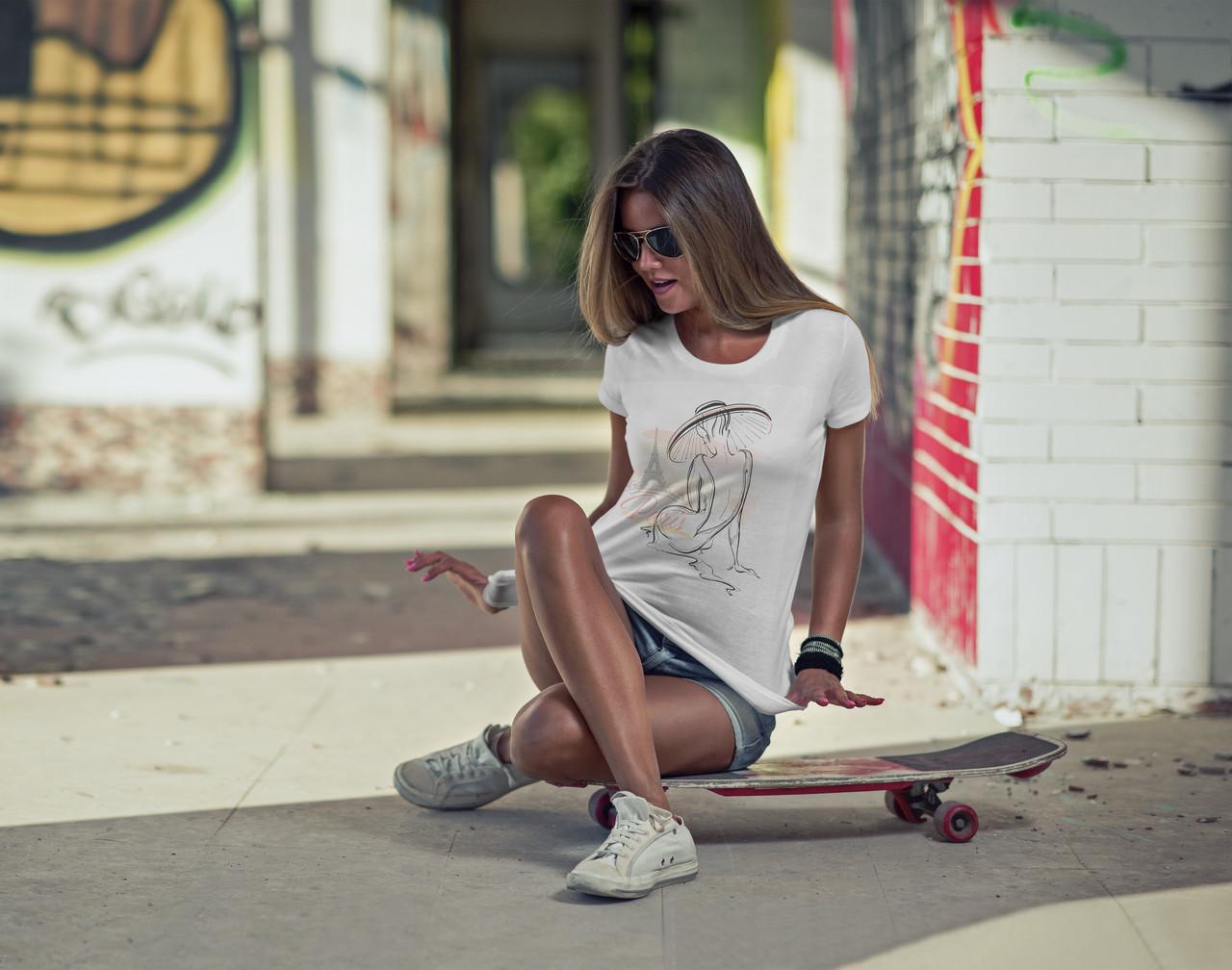 "Женская футболка ""Elegant girl"""