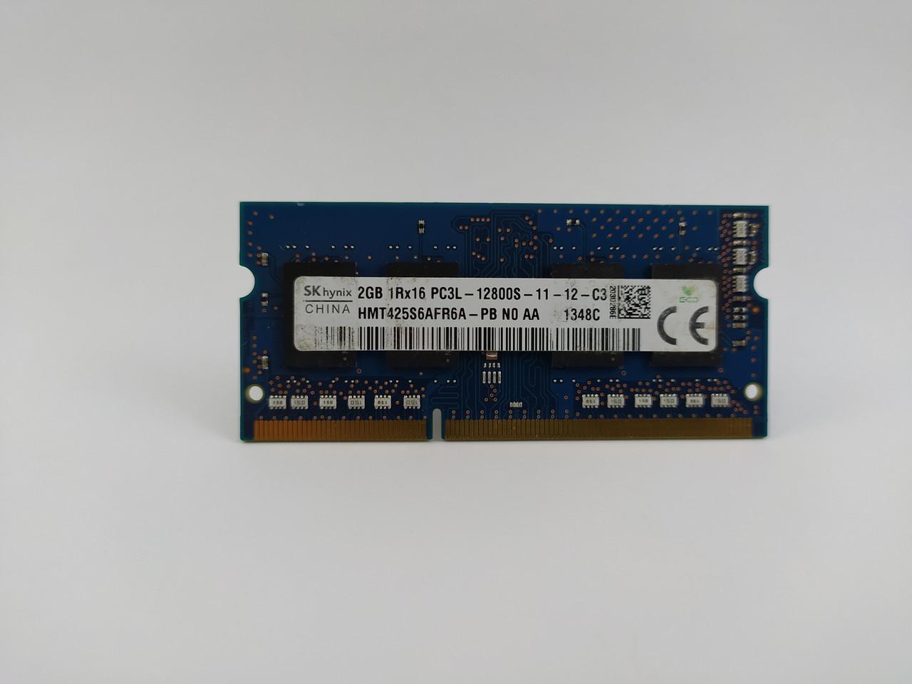 Оперативная память для ноутбука SODIMM SK hynix DDR3L 2Gb 1600MHz PC3L-12800S (HMT425S6AFR6A-PB) Б/У