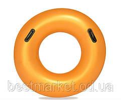 Надувной Круг для Плавания с Ручками BestwayОранжевый 91 см