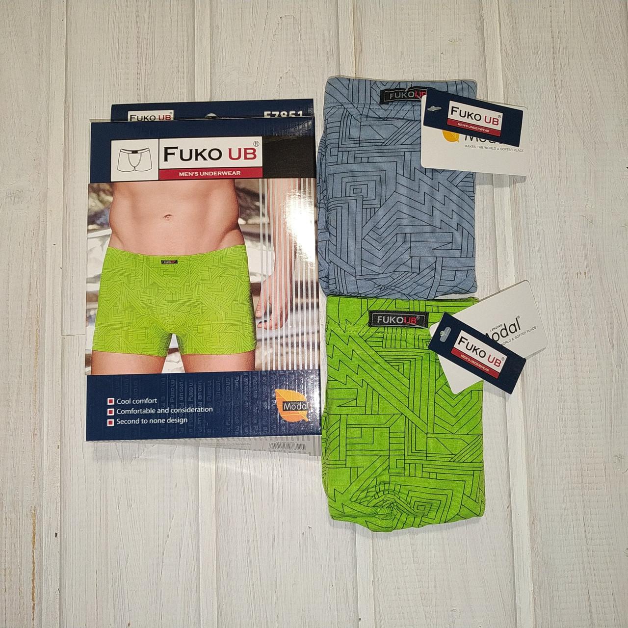 Трусы шорты Fuko Ub 7851  комплект 2шт XL  серый и зеленый