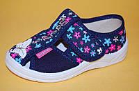 Детские Тапочки Waldi Украина 45603 Для девочек Синий размеры 24_30, фото 1