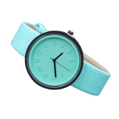 Часы наручные женские с зеленым ремешком код 304