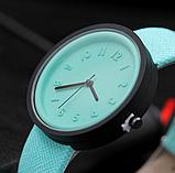 Часы наручные женские с зеленым ремешком код 304, фото 2