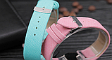 Часы наручные женские с зеленым ремешком код 304, фото 3