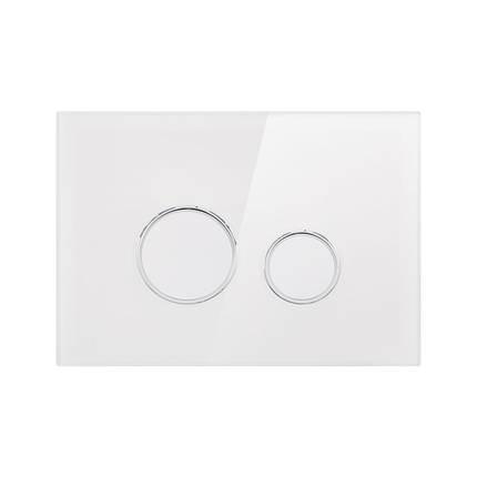 Панель смыва для унитаза Q-tap Nest PL M11GLWHI, фото 2
