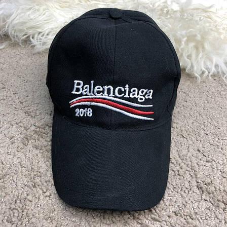 Кепка в стиле Baseball Hat Balenciaga 2018 Black/Черная, фото 2