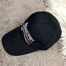 Кепка в стиле Baseball Hat Balenciaga 2018 Black/Черная, фото 3
