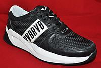 АКЦИЯ! Кроссовки из натуральной кожи летние осенние черные с перфорацией. Размеры 40, 41, 43, 44, 45.