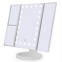 Зеркало Superstar Magnifying Mirror для макияжа с LED-подсветкой Белый 210027, КОД: 1251461