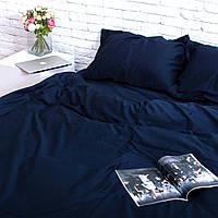 Комплект постельного белья Хлопковые Традиции Евро 200x220 Темно-синий SE01евро, КОД: 740678