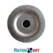 Контурный круг абразивная полусфера д 50 мм с полиуретановой вставкой и адаптером зернистость 230 ед HP104, фото 4