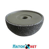 Контурный круг абразивная полусфера д 50 мм с полиуретановой вставкой и адаптером зернистость 230 ед HP104, фото 6