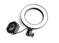 Лампа для селфи кольцевая 20 см для телефона световое кольцо кольцевой для блогеров макияжа