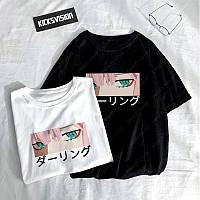 Стильная молодежная женская футболка с принтом Аниме