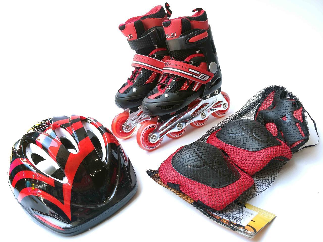 Комплект (ролики, шлем, защита)