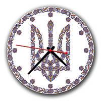 """Часы настенные круглые """"Герб Украины"""" 30х30 см"""