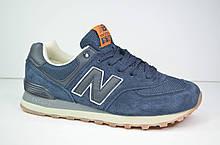 Подростковые и женские кроссовки синие в стиле 574 Classic (3138 - 6)