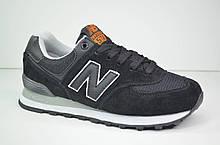Подростковые и женские кроссовки черные в стиле 574 Classic (3138 - 8)