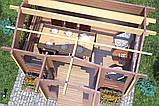 Беседка деревянная из профилированного бруса 4.2х3.5 м. низкая цена от производителя, фото 4