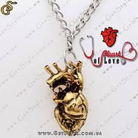 """Винтажная подвеска Сердце - """"Heart of Love"""" + подарочная упаковка!"""