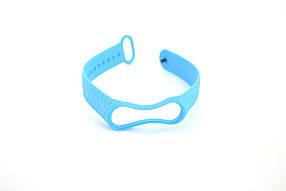 Ремешок для фитнес браслета Xiaomi mi band 3/4 Ромб Light Blue