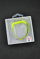 Ремешок на браслет фитнес Xiaomi mi band 3/4 Nylon №3 Green/black