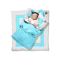 Одеяло-трансформер долматин Premium, 85х90, бязь, силикон 300, вышивка 78 - ART-0000055