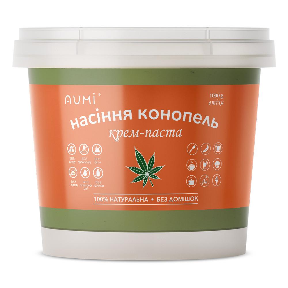 Паста из семян конопли кремовая, 1кг, ведро, натуральная без добавок