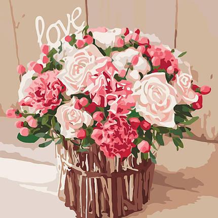 КНО2074 Раскраска по номерам Розы любви, Без коробки, фото 2
