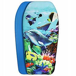 Бодиборд-доска для плавания на волнах SportVida Bodyboard SV-BD0001-5 размер: 94х46х5 см с рисунком