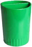 Пластиковий стакан-підставка для ручок та олівців, подвійний, в асортименті