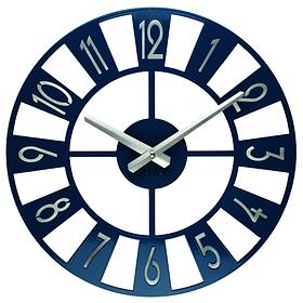 Настінні Годинники Glozis Boston 35х35 см Темно-синій КОД: B-026