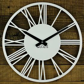 Настінні Годинники Glozis Rome 35х35 см Білий КОД: B-023