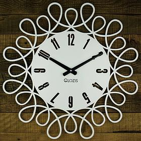 Настінні Годинники Glozis Romantic 50х50 см Білий КОД: B-020