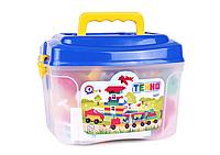 """Дитячий ігровий набір """"Конструктор ТЕХНО"""" ТМ ТехноК, 107 деталей в пластиковій коробці, від 3 років"""