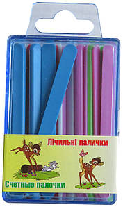Счетные палочки в пластиковой коробке