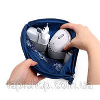Органайзер для зарядок и прочих мелочей Monopoly Cable Pouch Синий, фото 2