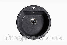 Мойка кухонная Solid Раунд, чёрный (ДхГ - 510х180)