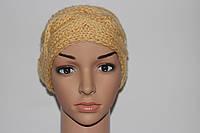 Вязаная шапка-повязка (полоска) на голову