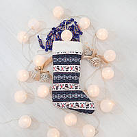 Сапог новогодний подарочный Золушка снеговики 37см (291-2)