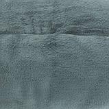Двуспальный плед однотонный покрывало микрофибра, фото 4