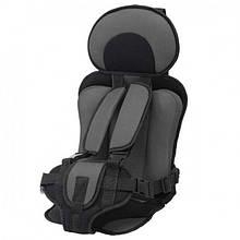 Портативное бескаркасное детское автокресло Child Car Seat до 36 кг Серый