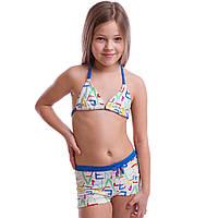 Купальник для плавания раздельный детский ARENA LETTERING AR-15673 возраст 6-14 лет цвета в ассортименте